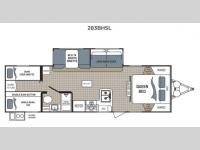 Floorplan - 2017 Dutchmen RV Kodiak Ultra Lite 283BHSL