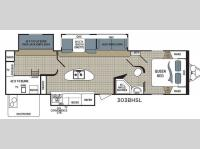 Floorplan - 2017 Dutchmen RV Kodiak Ultra Lite 303BHSL