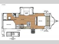 Floorplan - 2017 Forest River RV Vibe 245BHS