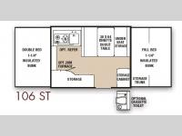 Floorplan - 2007 Coachmen RV Clipper 106 ST