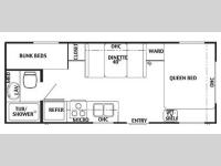 Floorplan - 2004 Forest River RV Wildwood 23 BH