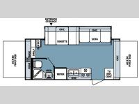 Floorplan - 2007 Forest River RV Rockwood Roo 21SS