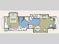 Floorplan - 2006 Holiday Rambler Endeavor 40PAQ