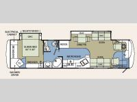 Floorplan - 2006 Holiday Rambler Endeavor 38PDD
