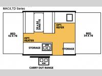 Floorplan - 2007 Forest River RV Flagstaff MAC/LTD Series 176LTD