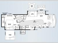 Floorplan - 2008 Winnebago Destination 39W