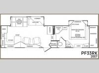 Floorplan - 2007 CrossRoads RV Paradise Pointe PF33RK