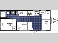 Floorplan - 2006 Dutchmen RV Four Winds Express Lite 18B
