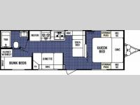 Floorplan - 2006 Dutchmen RV Four Winds Express Lite 27B