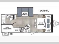 Floorplan - 2017 Dutchmen RV Kodiak Ultimate 243BHSL