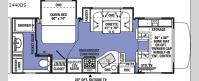 Sunseeker 2440DS Ford Floorplan Image