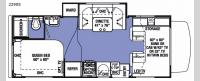 Sunseeker 2290S Chevy Floorplan Image