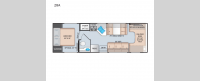 Four Winds 28A Chevy Floorplan Image
