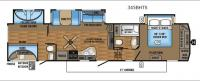 Eagle 345BHTS Floorplan Image