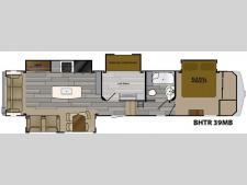 Floorplan - 2017 Heartland Bighorn Traveler 39MB