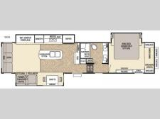 Floorplan - 2017 Forest River RV Cedar Creek Champagne Edition 38EL