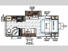 Floorplan - 2016 Forest River RV Flagstaff Micro Lite 23FBKS