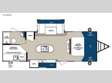 Floorplan - 2016 Forest River RV Surveyor 247BHDS