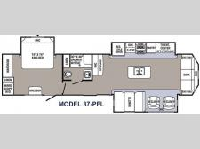 Floorplan - 2016 Palomino Puma Destination 37-PFL