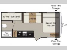 Floorplan - 2017 Keystone RV Passport 175BH Express