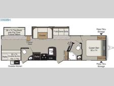 Floorplan - 2017 Keystone RV Passport 3350BH Grand Touring