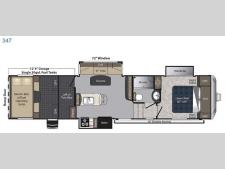 Floorplan - 2017 Keystone RV Carbon 347
