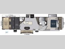 Floorplan - 2017 Keystone RV Carbon 357