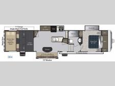 Floorplan - 2017 Keystone RV Carbon 364