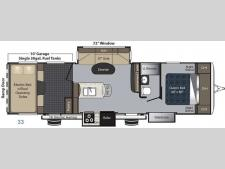 Floorplan - 2017 Keystone RV Carbon 33