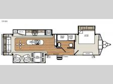 Floorplan - 2017 Forest River RV Sandpiper Destination Trailers 393RL
