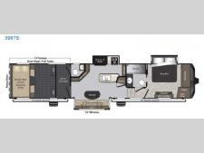 Floorplan - 2017 Keystone RV Raptor 398TS