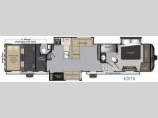 Floorplan - 2017 Keystone RV Raptor 425TS
