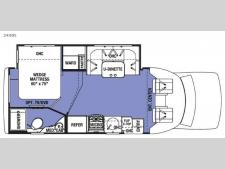 Floorplan - 2017 Forest River RV Sunseeker Grand Touring Series 2430S