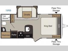 Floorplan - 2017 Keystone RV Passport Elite 19RB