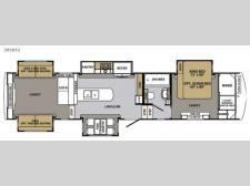Floorplan - 2017 Forest River RV Cardinal 3950TZ