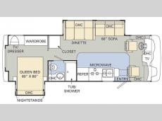 Floorplan - 2008 Monaco Monarch 30 PDD