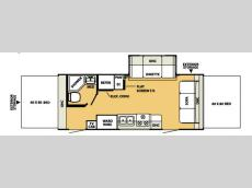Floorplan - 2007 Forest River RV Shamrock 23B
