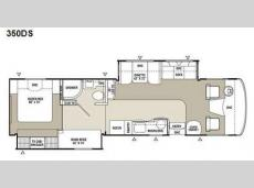 Floorplan - 2008 Coachmen RV Mirada 350DS