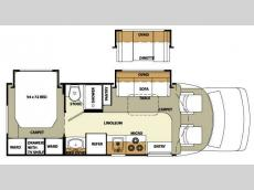 Floorplan - 2008 Forest River RV Lexington 255DS