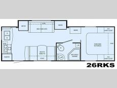 Floorplan - 2009 Heartland North Trail 26RKS