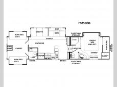 Floorplan - 2009 Forest River RV Sandpiper 335QBQ