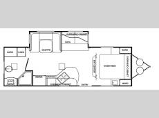 Floorplan - 2009 Adventure Manufacturing Timberlodge 25RBS