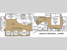 Floorplan - 2009 Carriage Cameo F37RE3