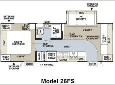 Floorplan - 2010 Forest River RV Flagstaff Super Lite 26FS