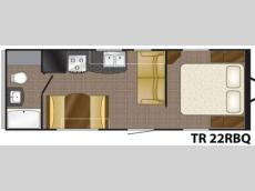 Floorplan - 2011 Heartland Trail Runner 22 RBQ