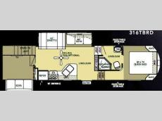 Floorplan - 2010 Forest River RV Salem Hemisphere 316TBRD
