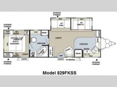 Floorplan - 2011 Forest River RV Flagstaff Classic Super Lite 829FKSS
