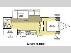 Floorplan - 2011 Forest River RV Salem 26TBUD