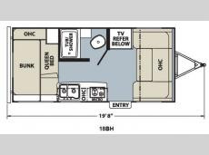 Floorplan - 2012 Coachmen RV Apex Ultra-Lite 18 BH