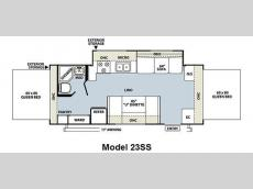 Floorplan - 2012 Forest River RV Rockwood Roo 23SS